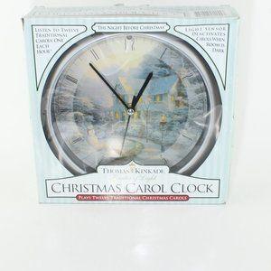 Thomas Kinkade Christmas Musical Clock